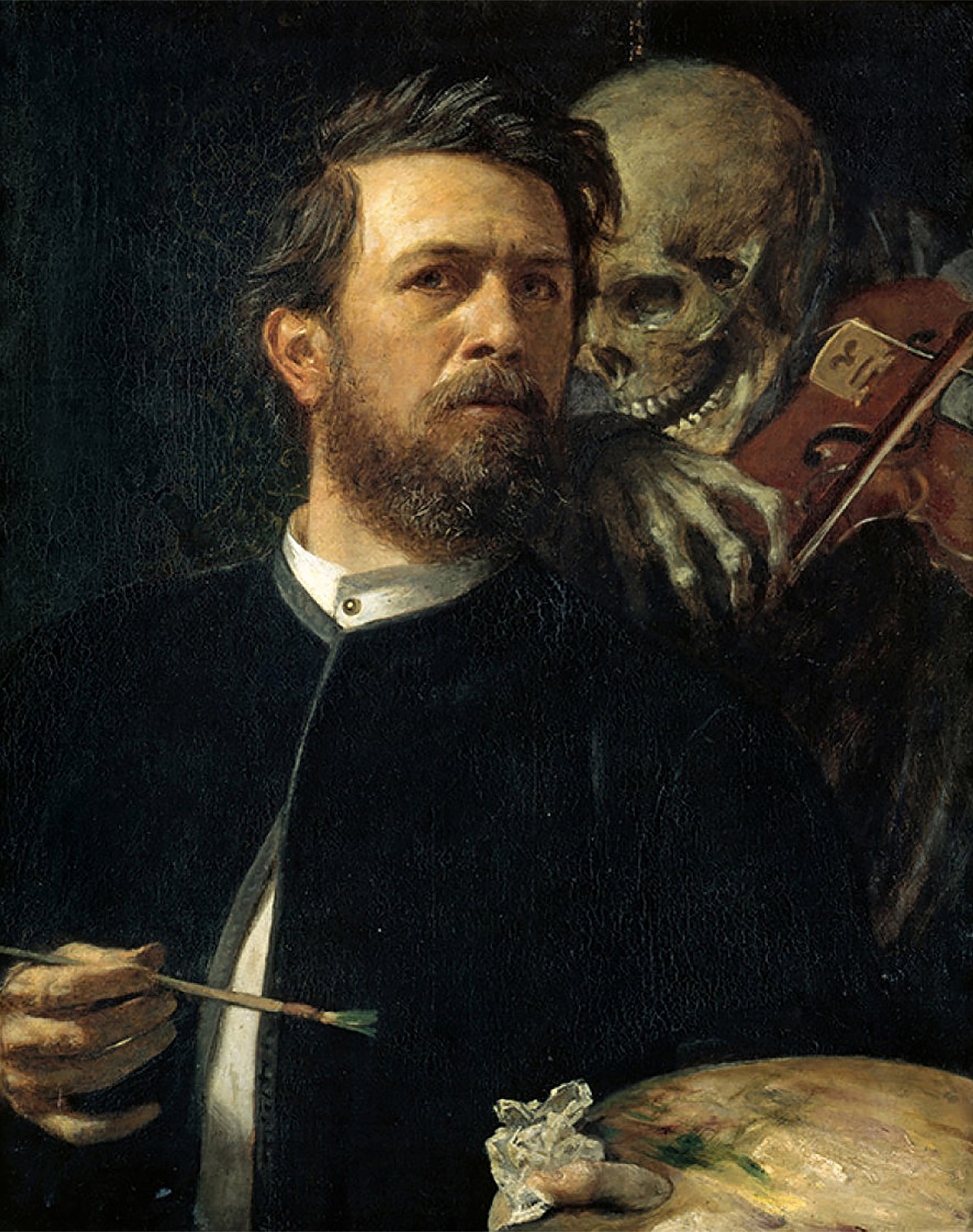 Arnold Böcklin - Self-portrait with Death