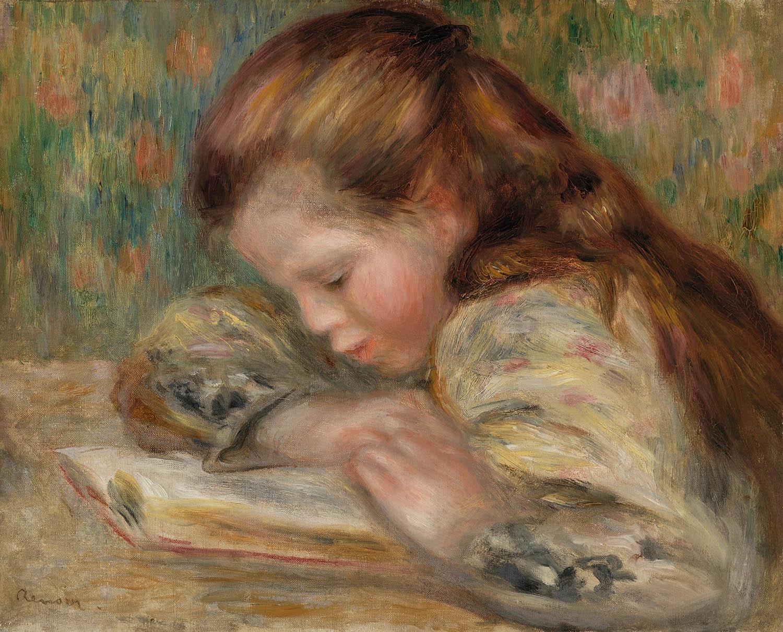 Pierre Auguste Renoir - Child Reading