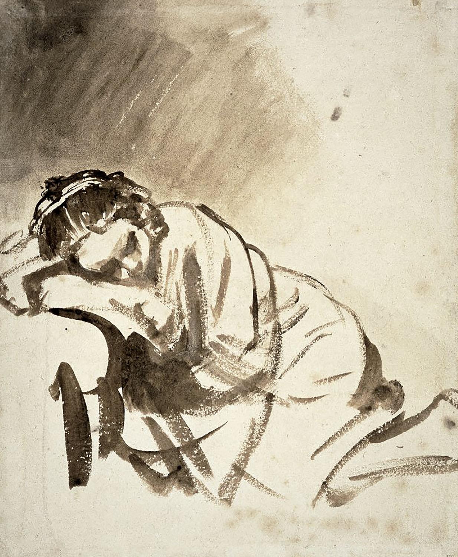 Rembrandt - Hendrickje sleeping