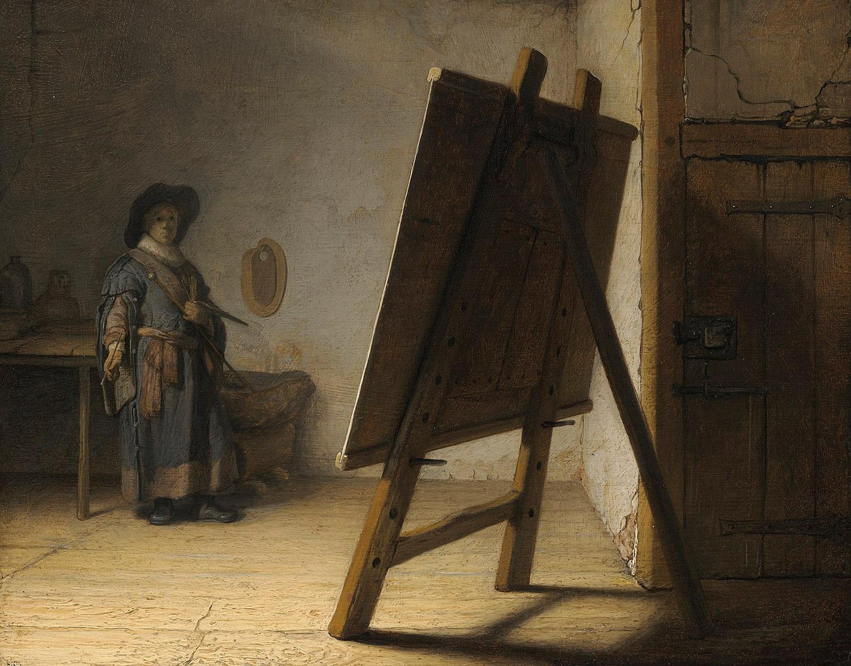 Rembrandt van Rijn - The Artist in his studio