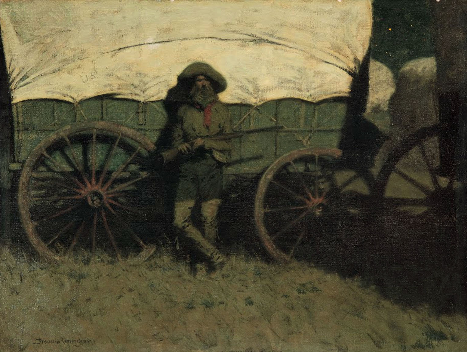 Frederic Remington - The Sentinel