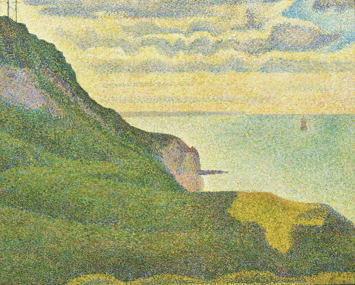 Georges Seurat - Seascape at Port-en-Bessin