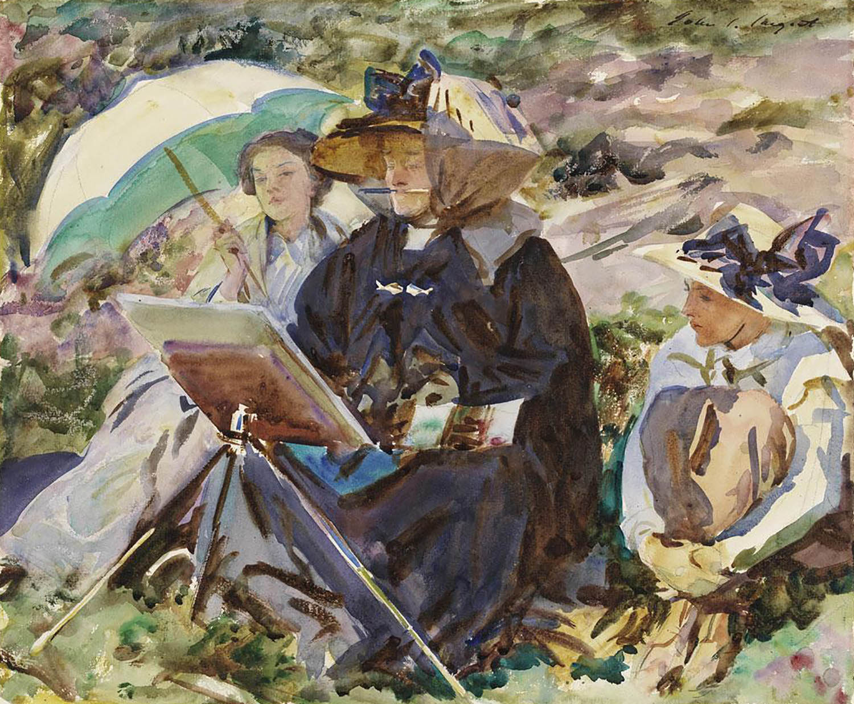 John Singer Sargent - Sister Emily painting