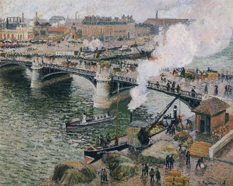 Pissarro - Pont Boieldieu in Rouen