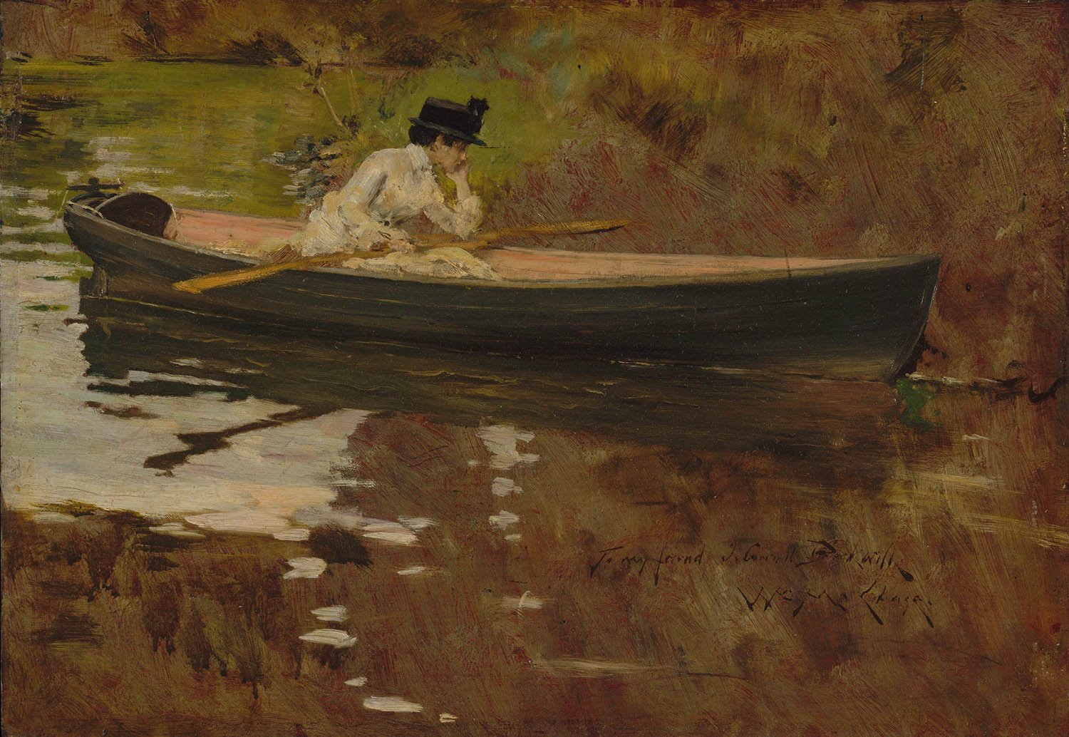 William Merritt Chase - Mrs Chase in Prospect Park