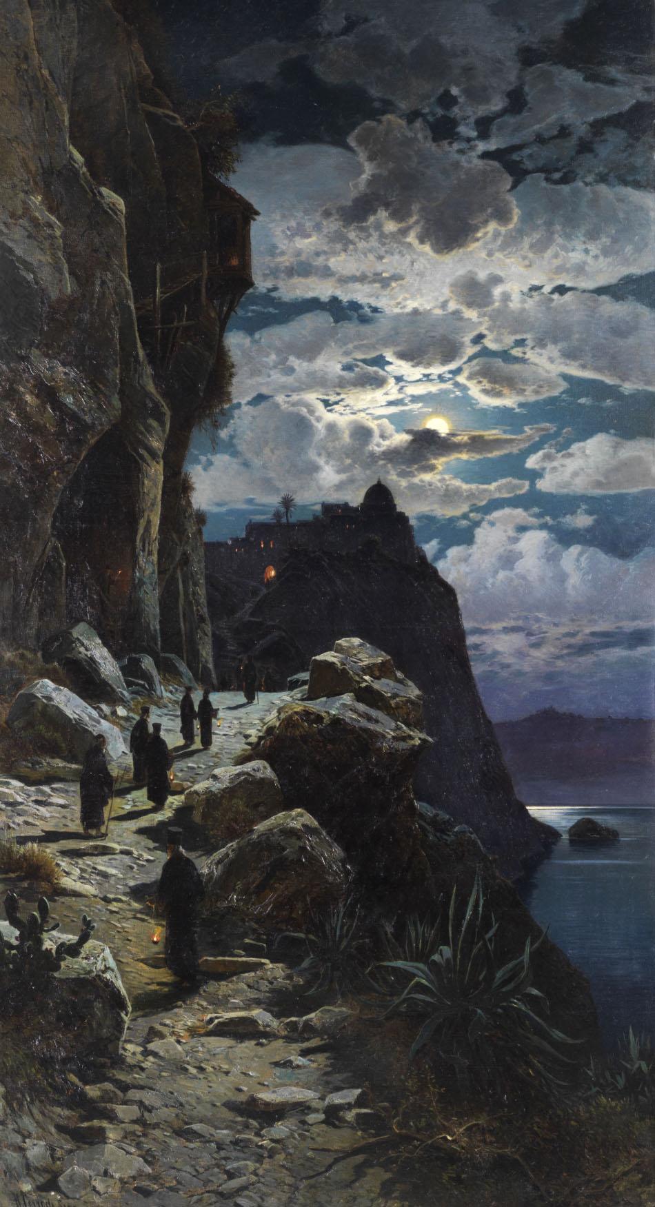 Gang Hermann David Salomon Corrodi - Der Mönche Zum Bergkloster Athos